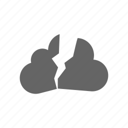 break, cloud, computer cloud, server, store icon