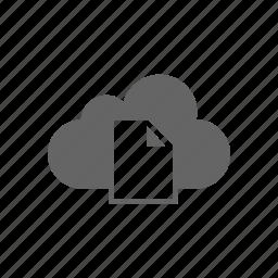 cloud, computer cloud, document, server, store icon