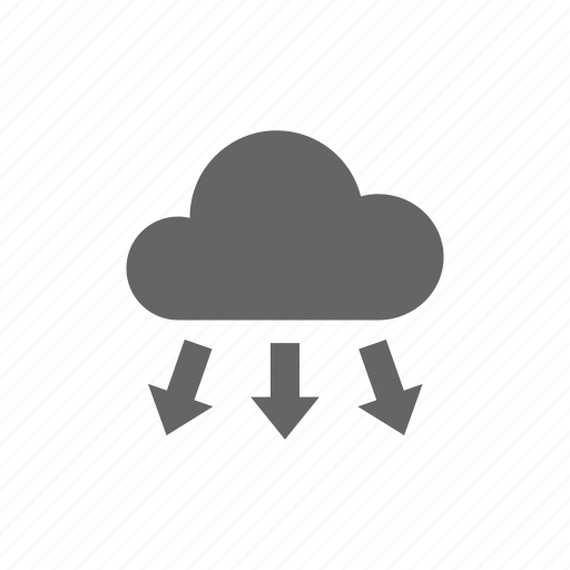 cloud, computer cloud, donwload, server, store icon