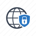 global, network, protection, security icon
