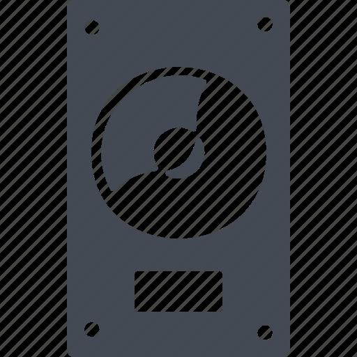 amplifier, column, computing, speaker icon
