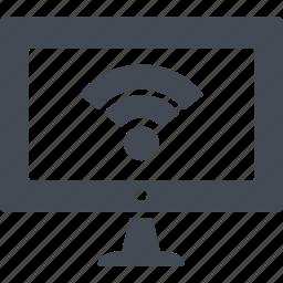 computer, computing, display, monitor, screen icon