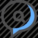 chat, search, communication, message, bubble, conversation, text
