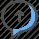 chat, upload, communication, message, bubble, conversation, text