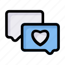 chat, favorite, heart, like, love