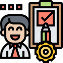 checklist, task, job, evaluation, employee