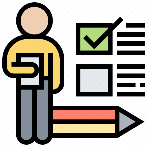 check, daily, list, tasks, working icon
