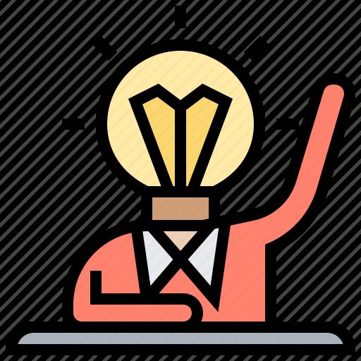 bright, creator, idea, initiative, leader icon