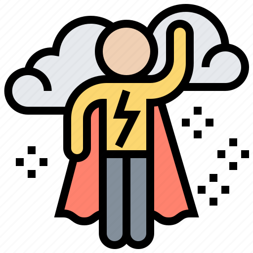 Ambition, dream, motivation, power, superhero icon - Download on Iconfinder