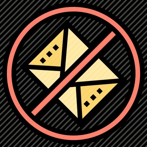 blocker, delete, email, no, spam icon