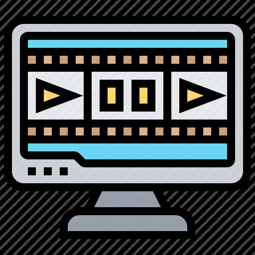 entertainment, media, movies, recreation, stop icon
