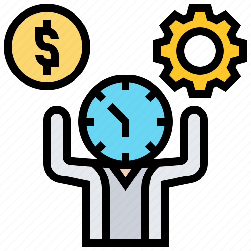 manage, optimization, resources, time, wisely icon