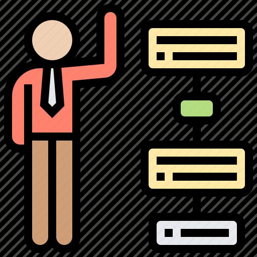 business, diagram, planner, scheme, working icon