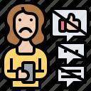 phone, social, shutdown, prohibit, stop icon