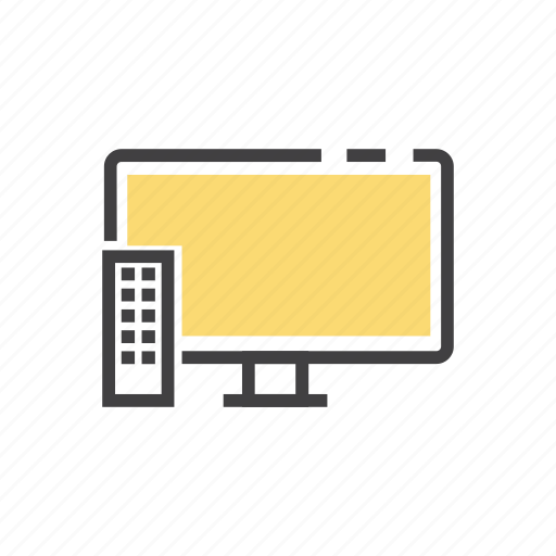 cable, device, display, monitor, screen, television, tv icon
