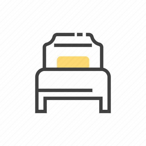 bed, belongings, furniture, home, hotel, households, single icon