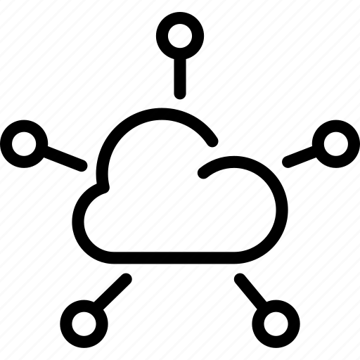 cloud, cloud data, cloud storage, connectivity, network, share, technology icon