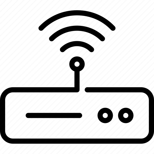 connection, internet, modem, network, router, signal, technology icon