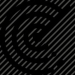 find, identify, locate, radar, scan, sonar icon