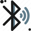 bluetooth, connection, connectivity, data, share, wave, wireless icon
