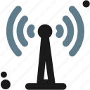 antenna, connectivity, wave, wireless icon