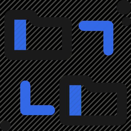connectivity, folder, sync icon