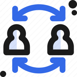 connectivity, people, share, sync, users icon