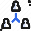 connectivity, organization, people, team icon