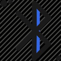 bluetooth, connectivity icon