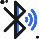 bluetooth, connectivity, on icon