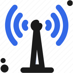 connectivity, radio, signal, waves, wireless icon