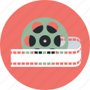 film, movie, movie reel, multimedia, reel, video icon