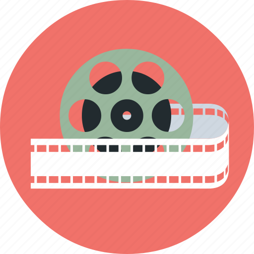film, movie, movie reel, multimedia, reel, video icon