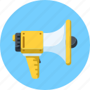 advertising, announcement, loudspeaker, megaphone, promotion, speaker icon