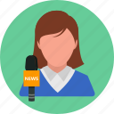 business, document, news, news reporter, office, report icon