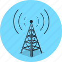 communication, connection, network, signal, technology, tower icon