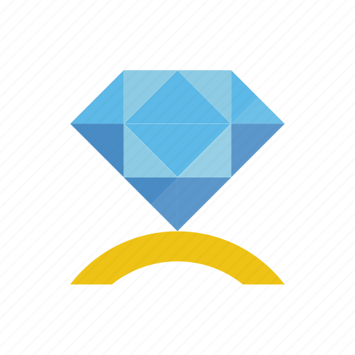 diamond, ring icon