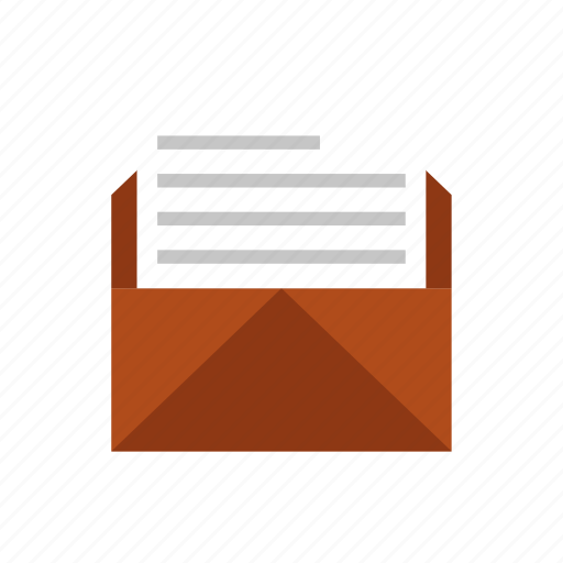 letter, mail, news icon