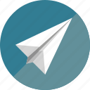 paper, paper plane, plane icon