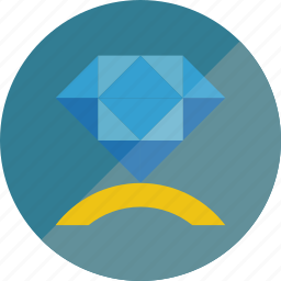 diamond, ring icon