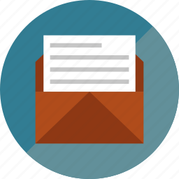 letter, mail, message icon