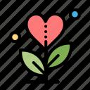 gratitude, grow, growth, heart, love icon