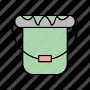 bucket, tool, work