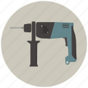 building, construction, drill, hamer drill, hammer, tool, tools icon