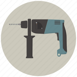 building, construction, drill, hamer drill, hammer, tool, tools icon