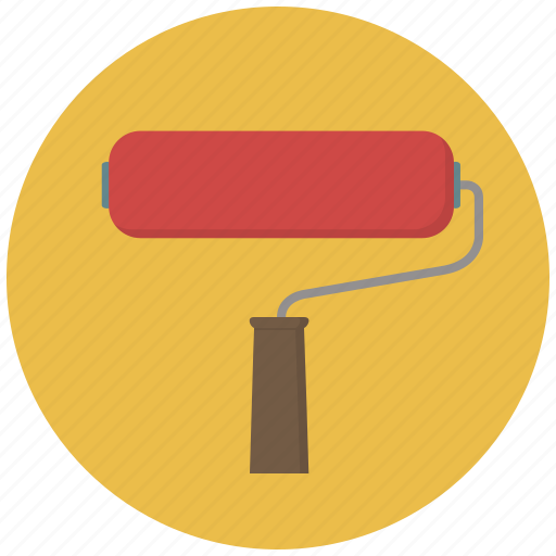 brush, building, construction, paint, painting roll, roll, tool icon
