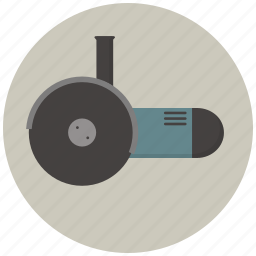 angle, angle grinder, building, construction, gear, grinder, tool icon