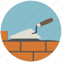 brick, bricks, build, building, construction, spatula, tool icon