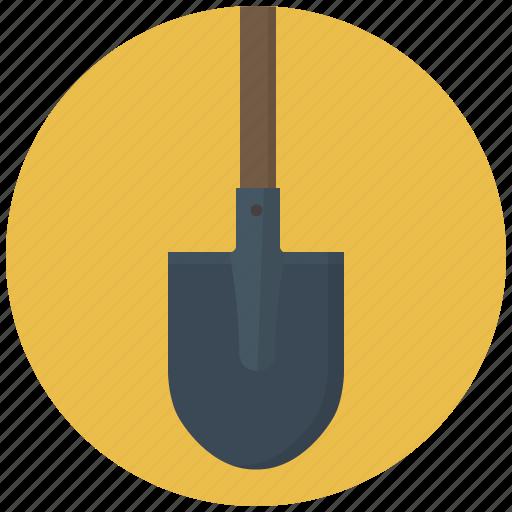 building, construction, dig, digger, shovel, shovels, tool icon