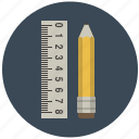 building, construction, draw, graphic, pencil, ruler, tool icon